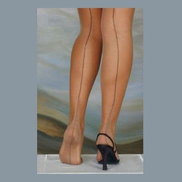 Eleganti Point Heel Contrast Seam FF Stockings